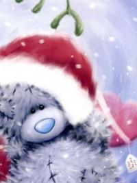 Аватар вконтакте Мишка Teddy с коробкой конфет в виде сердечка