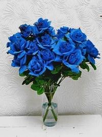 Обои Букет из синиз ро в виде сердечка