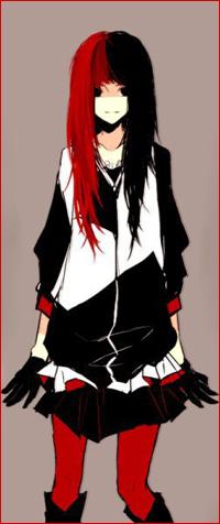 Аниме девушка с длинными черными волосами