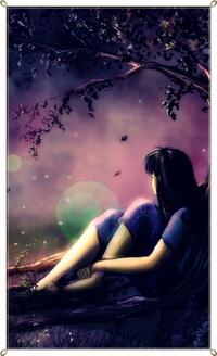 Аватар вконтакте Девочка смотрит на небо