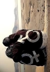 Аватар вконтакте Девушка и парень в кофтах со знаками Венеры и Марса