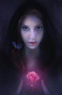Аватар вконтакте Девушка держит цветок