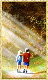 Аватар вконтакте Дети идут по солнечной аллее