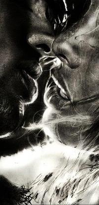 Аватар вконтакте Страсть в черно-белом поцелуе