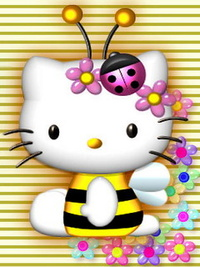 Аватар вконтакте Hello Kitty в костюме пчёлки