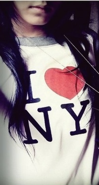 Аватар вконтакте В футболке нью йорк (I love NY)