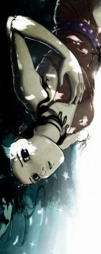 Обои Девушка лежит в воде и держится рукой за сердце