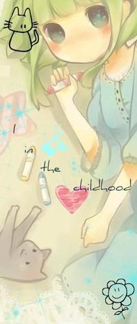 Аватар вконтакте Милая девочка рисует мелками на асфальте (I in the childhood / Я в детстве)