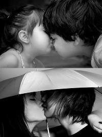 Аватар вконтакте Детский и взрослый поцелуй
