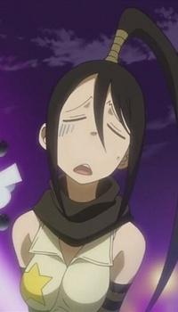 Обои Уставшая Цубаки-тян из аниме 'Пожиратель душ'