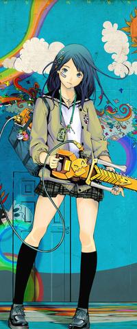 Картинка девушка с бензопилой