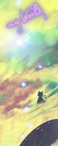 Аватар вконтакте Котик сидит на фоне неба (my World)