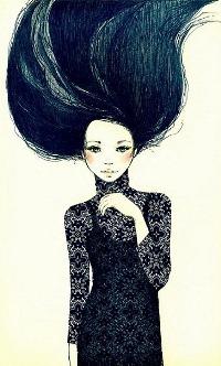 Красивые брюнетки с длинными волосами фото на аву