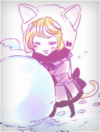 Аватар вконтакте Алоис лепит снеговика