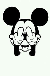 99px.ru аватар Микки Маус (Mickey Mouse) показывает fuck