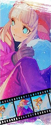 Аватар вконтакте Анимешная девочка лепит снеговика