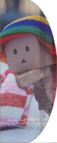 Аватар вконтакте Картонный человечек Данбо / Danbo зимой