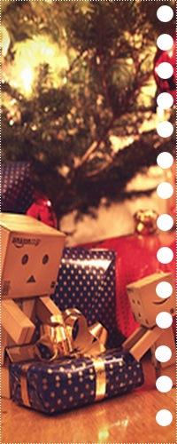 Аватар вконтакте Картонные человечки Данбо / Danbo распаковывают подарки на Новый год