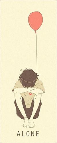 99px.ru аватар Грустный мальчик с шариком (alone)
