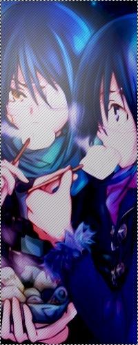 99px.ru аватар Агито и Акито из аниме Air Gear едят на улице зимой