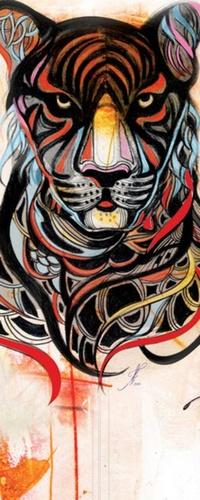 Аватар вконтакте Разноцветный тигр