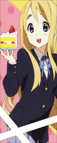 Аватар вконтакте Муги из аниме K-ON с кусочком тортика на тарелочке