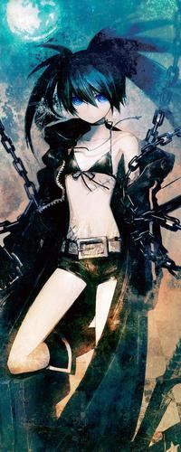 Аватар вконтакте Стрелок с Чёрной Скалы из аниме Black Rock Shooter в цепях