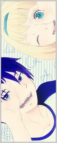 Аватар вконтакте Okumura Rin / Рин Окумура и Морияма Шиеми / Shiemi Moriyama из аниме Синий Экзорцист / Ao no Exorcist