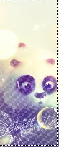 Обои Панда смотрит на пузырик