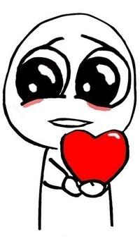 Аватар вконтакте Милый нарисованный человечек с сердечком