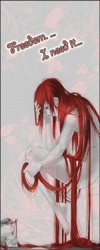 99px.ru аватар Девушка с длинными красными волосами ( Freedom... I need it... / Свобода... Мне это нужно...)