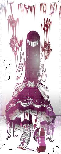 Аватар вконтакте Девушка из аниме оставляет кровавые следы на стене