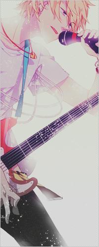 Аватар вконтакте Shima Kinzou / Шима Киндзо из аниме Синий Экзорцист / Ao no Exorcist играет на гитаре и поёт в микрофон