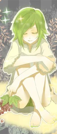 Аватар вконтакте Вокалоид Гуми Мегпоид / Vocaloid Gumi Megpoid с виноградом