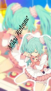 Аватар вконтакте Грустная вокалоид Мику Хатсуне / vocaloid Hatsune Miku обнимает игрушечного розового кролика