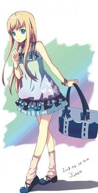 Девушка в платье аниме картинки