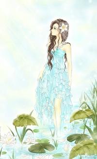 Аниме в красивом платье картинки