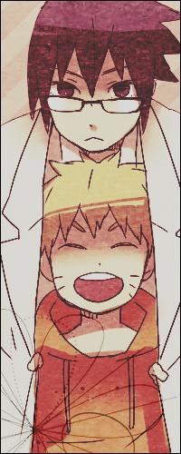 Аватар вконтакте Учиха Саске в очках и веселый Узумаки Наруто / Uchiha Sasuke and Uzumaki Naruto из аниме Наруто / Naruto