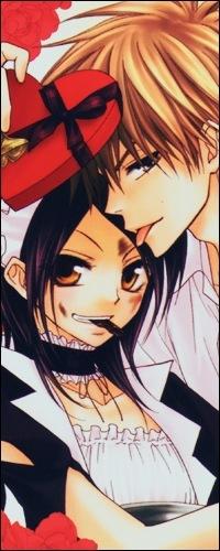 Аватар вконтакте Мисаки и Усуи из аниме «Kaichou wa Maid-sama / Президент студсовета - горничная» едят шоколад