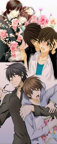 Аватар вконтакте Takano Masamune / Масамунэ Такано обнимает Onodera Ritsu / Рицу Онодэра из аниме Лучшая в мире первая любовь / Sekai-ichi Hatsukoi