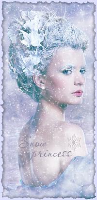 Аватар вконтакте Девушка под падающим снегом (Snow princess / Снежная принцесса)