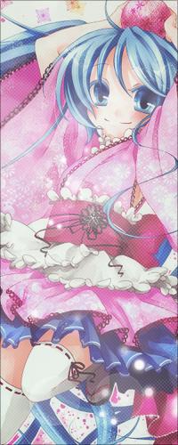 Аватар вконтакте Мило улыбающаяся вокалоид Хатсуне Мику / vocaloid Hatsune Miku держит розовый шарик в руках над головой