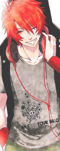 Аватар вконтакте Отоя Иттоки / Otoya Ittoki из аниме Поющий принц: 1000% любовь / Uta no Prince-sama в наушниках и гитарой за спиной