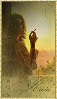 99px.ru аватар Девушка с сигаретой за мокрым стеклом (rain / дождь)