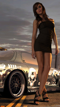 Девочка в коротком черном платье фото 39-700