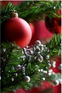 Аватар вконтакте Красные елочные игрушки на елке
