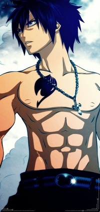 Аватар вконтакте Грей Фуллбастер / Gray Fullbaster из аниме Хвост Феи / Fairy Tail закутанный в шарф