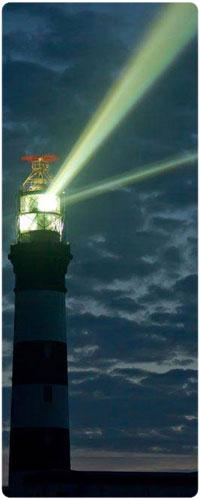 Аватар вконтакте Маяк на фоне ночного неба