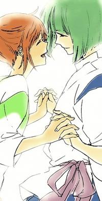 Аватар вконтакте Тихиро / Chihiro и Хаку / Haku из аниме Унесённые Призраками / Spirited Away
