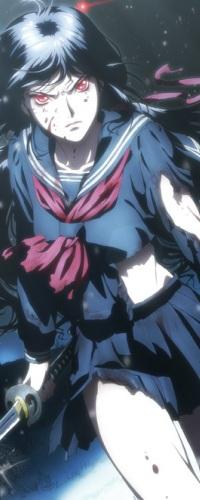 Аватар вконтакте Сая Кисараги / Saya Kisaragi из аниме Кровь-С / Blood-C с самурайским мечем